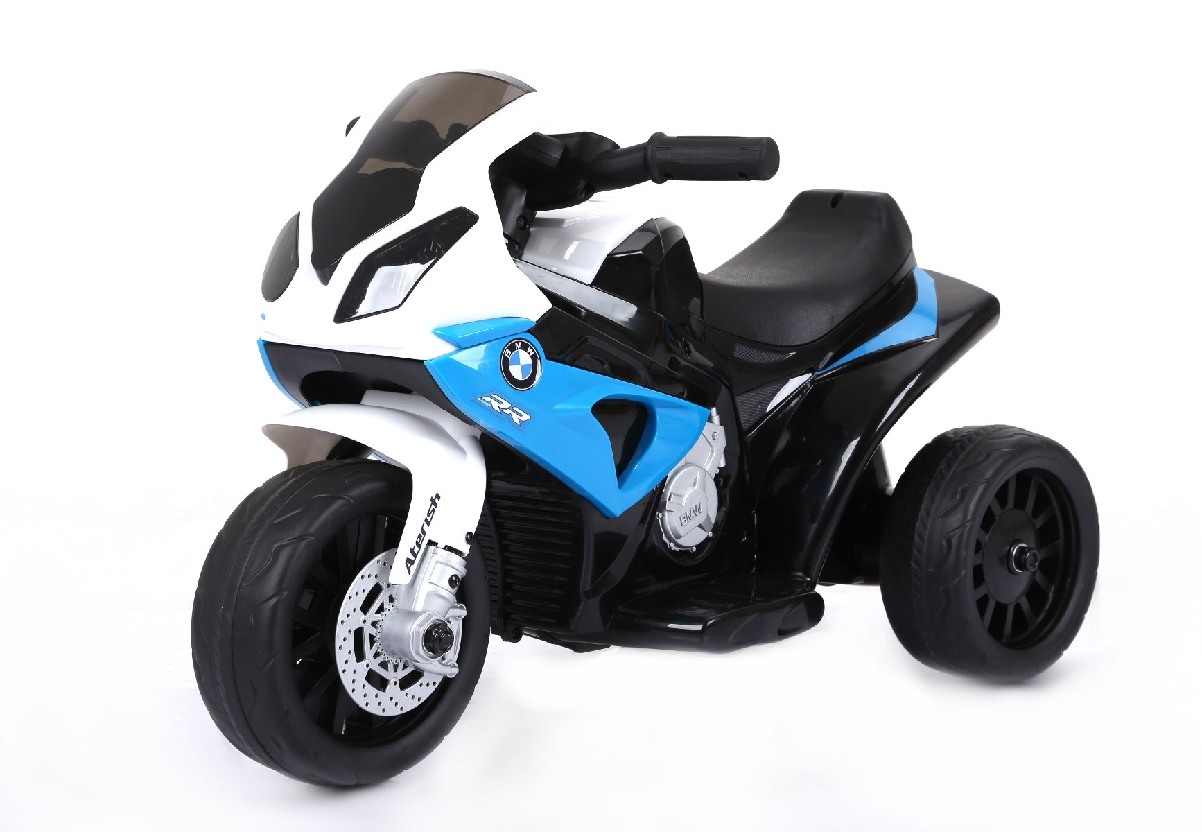 S 1000 Rr Tricycle électrique pour enfants, Moto ? piles, 3 roues, sous licence, 1x moteur, batterie 6V, Bleu