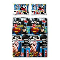 Dc Comics - Parure de lit double Superman Batman Clash