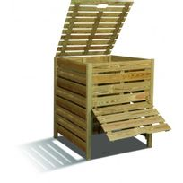 Jardipolys - Composteur en bois - 80 x 100 cm - 800 litres - Pratik