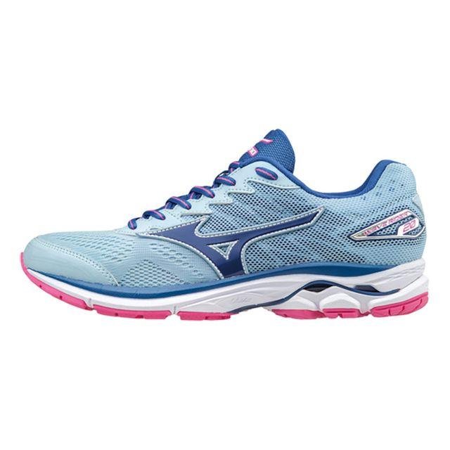 brand new 1ec47 a546b Mizuno - Chaussures Wave Rider 20 bleu rose femme - pas cher Achat   Vente  Chaussures athlétisme - RueDuCommerce