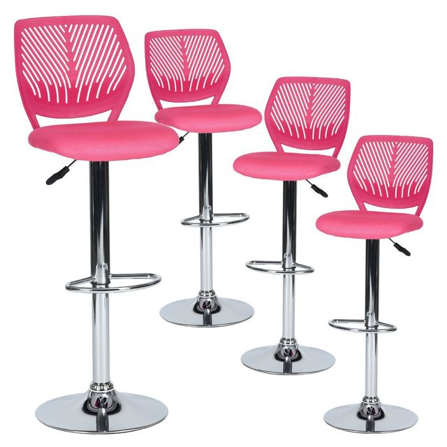 tabourets bar rose. Black Bedroom Furniture Sets. Home Design Ideas