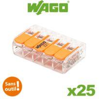 Wago - Bornes de connexion automatique S221 5 entrées par 25