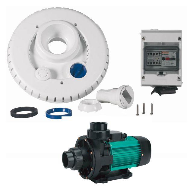 ESPA kit pompe 44m3/h + facade + coffret électrique pour nage à contre courant - ncr2 wiper3 300 triphasé