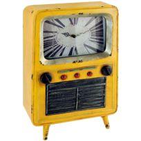 Signee - Pendule et boîte en forme de Télévision ancienne