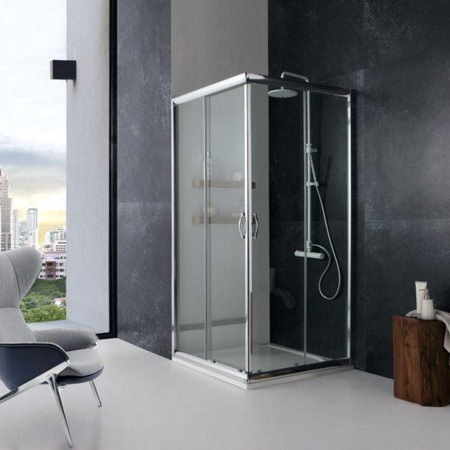 kiamami valentina cabine de douche giada 70x70 verre. Black Bedroom Furniture Sets. Home Design Ideas
