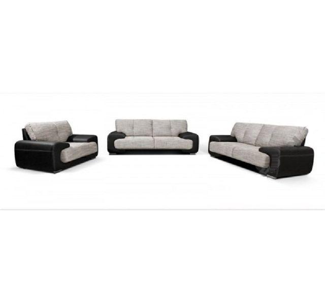 CHLOE DESIGN Canapé 3+2 design Marie - Gris et noir