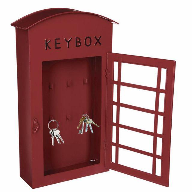 Boite À Clés Murale touslescadeaux - boite armoire à clés murale cabine téléphonique