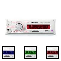 AUNA - MD-120.2WH Autoradio USB SD MP3 4x75W max. Line-Out