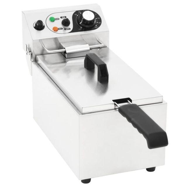 Moderne Électroménager de cuisine collection Addis-Abeba Friteuse électrique Acier inoxydable 6 L 2000 W