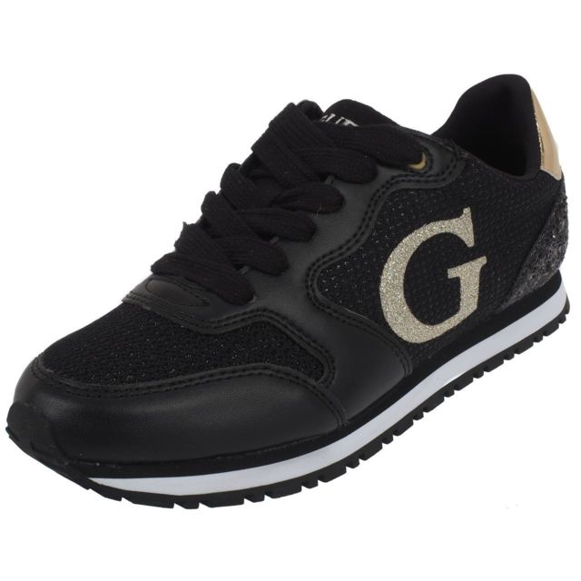49e3af40d8617 Guess - Chaussures running mode Sneakers black lady Noir 54861 - pas cher  Achat / Vente Baskets femme - RueDuCommerce