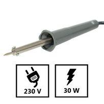 Providus - Fer à souder électrique 230V - 30 Watts, Soudure à l'étain, soudure électronique - repose fer et panne étamée