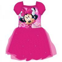 f8065ec5ec864 Disney - Minnie - Robe - Taille Empire - Fille Rouge Fuchsia 134 cm - Rouge