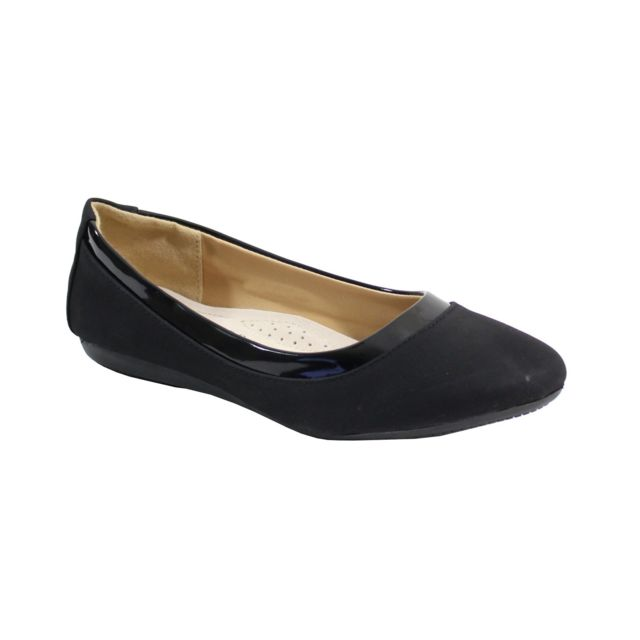 Alistair By Shoes Ballerine Plate Style Velours Femme