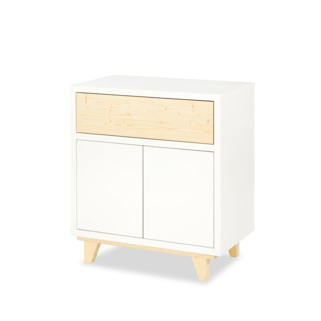 Klups Commode 2 portes LittleSky by Lydia - Blanc