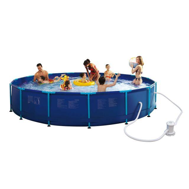 carrefour piscine tubulaire ronde hawai dia 457 x h 83. Black Bedroom Furniture Sets. Home Design Ideas