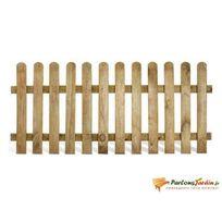 Jardipolys - Clôture en bois lames droites demi rondins Stackette L180 x H100cm