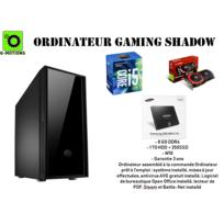 G-motions - Ordinateur, tour de bureau Assemblage Shadow Gaming par Intel Core I5 7500 4 cœur up to 3.8 Ghz - 8 Go Ram Ddr4 - 1To Disque + 250 Ssd - Gtx 1060 3Go - W10 - Garantie 3 ans
