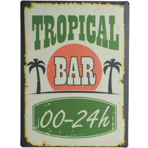 plaque m tal d corative bar tropical 30x40 cm pas cher achat vente objets d co rueducommerce. Black Bedroom Furniture Sets. Home Design Ideas
