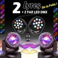 Ibiza Light - 4 jeux de lumieres 2 lyres + 2 projecteurs parled pa dj mix sono bar club disco soiree danse