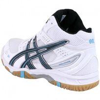 Blanc chaussures Volley Task Ball Gel Asics Montante Montante Homme JTKc1lF3