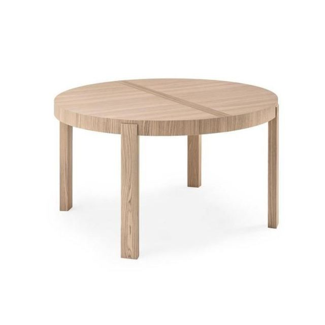 Inside 75 table repas extensible ronde atelier 130x130 en for Table ronde en bois extensible