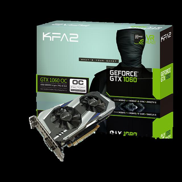 KFA2 GeForce GTX 1060 OC 6Go DDR5 192bit DP 1.4, HDMI 2.0b, Dual Link-DVI
