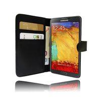 Nzup - Etui Klam noir ouverture sur le côté pour Samsung Galaxy Note 3 N9000