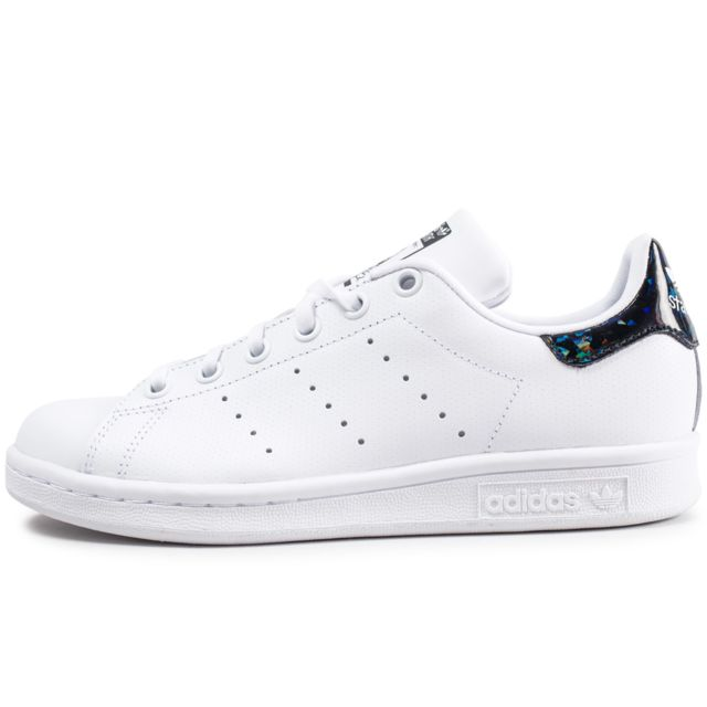 Stan Smith Junior Blanche Et Noire Iridescent