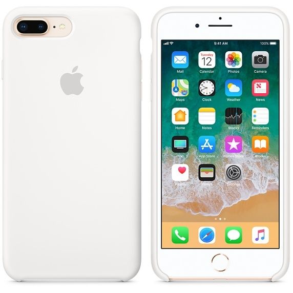 APPLE iPhone 8 Plus/7 Plus Silicone Case - Blanc iPhone 8 Plus/7 Plus Silicone Case - BlancDoublure en microfibre - Finition lisse