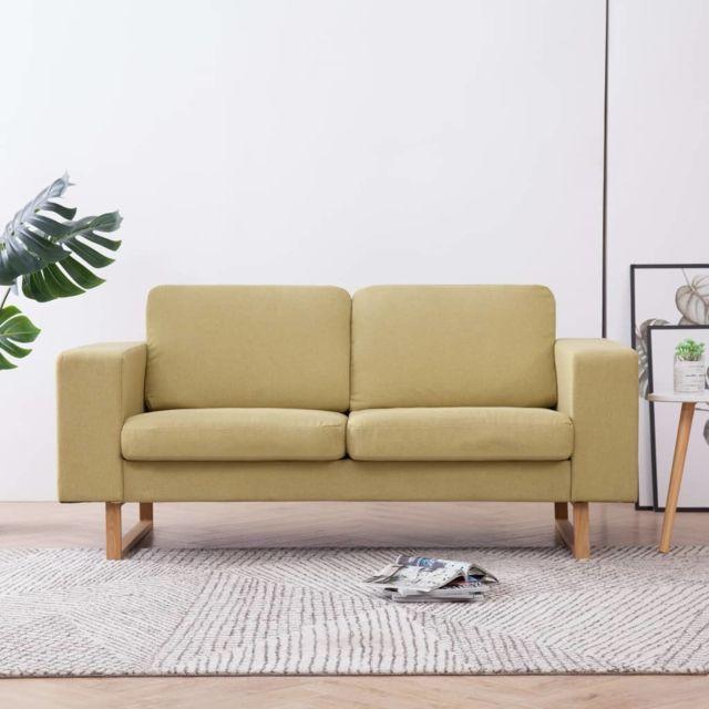 Moderne Meubles serie Koweït Canapé à 2 places Tissu Vert