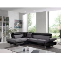 Bestmobilier - Lisbona - Canapé d angle gauche convertible - L 252 x P 190cm