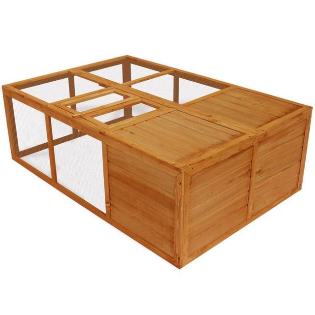 Vidaxl Cage pliable en bois pour animaux