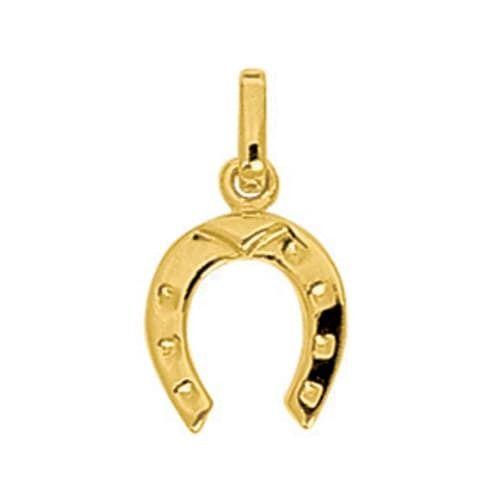 Sochicbijoux So Chic Bijoux © Pendentif Découpé Fer à Cheval Equitation Or Jaune 750/000 18 carats