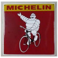 Universel - Grosse plaque emaillée michelin nan vélo tole deco garage 50