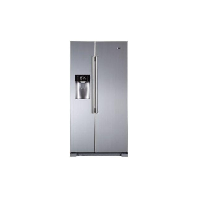 Haier Hra-i2b - Refrigerateur Americain - 540l 369+171 - Total No Frost - A+ - L90.8 X H179 Cm - Inox