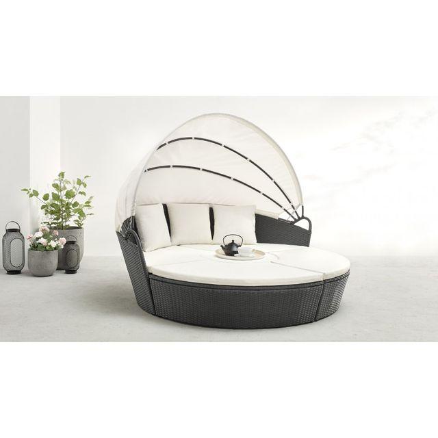 Bobochic - Salon de jardin Monaco modulable 6 à 8 places gris - pas ...