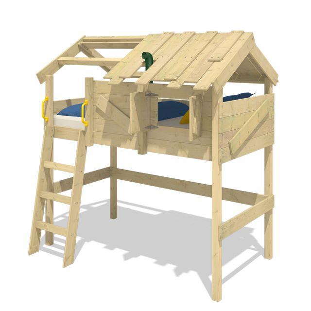 WICKEY Lit mezzanine en bois CrAzY Cove pour enfant