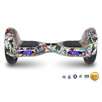 Cool And Fun - Cool&FUN Hoverboard Bluetooth,Scooter électrique Auto-équilibrage,gyropode connecté 10 pouces hip-hop multi-couleur