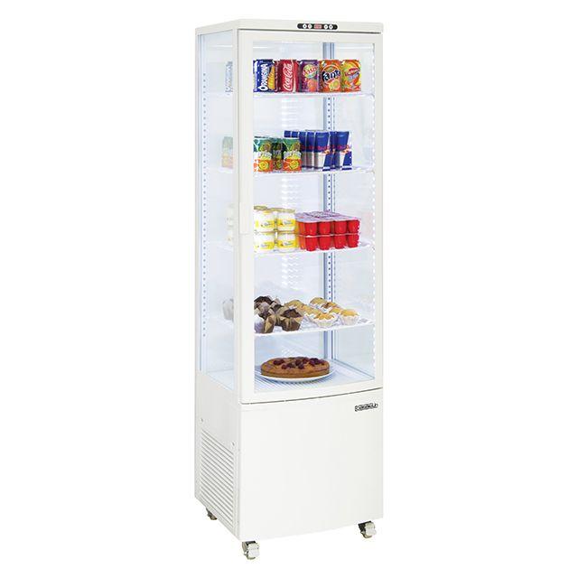 CASSELIN vitrine réfrigérée à poser 235l blanc - cvr235lb