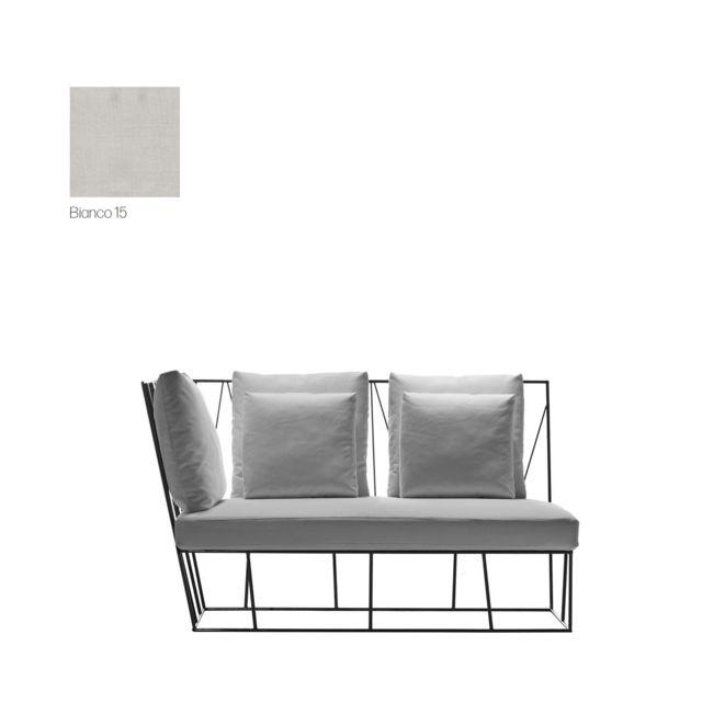 Driade Élément terminal du canapé d'extérieur Herve - Cipro Bianco 15 - gauche