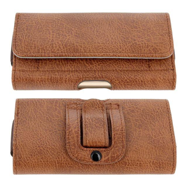 bas prix 5c11d d9c52 Étui Ceinture Smartphone Pochette Vintage Clip Porte-cartes Taille 3XL -  Marron