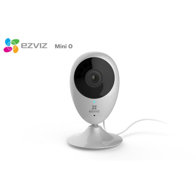 EZVIZ - Mini O Caméra intérieur de surveillance HD 720P IP Wifi sans fil - 1280x720 - Alerte téléphone -Vision nocturne - Angle vue 111°- zoom x8 - Son Bidirectionnel - Guide & Appli en français