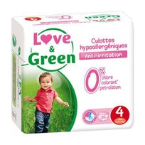 Love And Green - Love & Green - Culottes Apprentissage Ecologiques Hypoallergéniques 0% T4 x 20