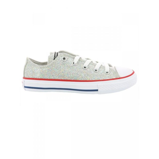 Converse - Baskets gris chuck taylor all star glitter enfant ...