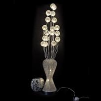 Kosilum - Grande lampe vase fleurs Led aluminium - Barbara H160 cm