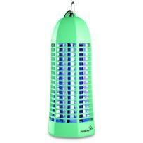 Plein Air - Lampe piege anti moustique et insectes vert laqué - Décharge électrique 1000V - Champ action 20 m2