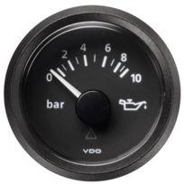Vdo - Manometre pression huile Viewline - fond noir - Diametre 52mm