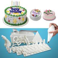 Maison Futée - Kit décoration gâteau 100 pièces