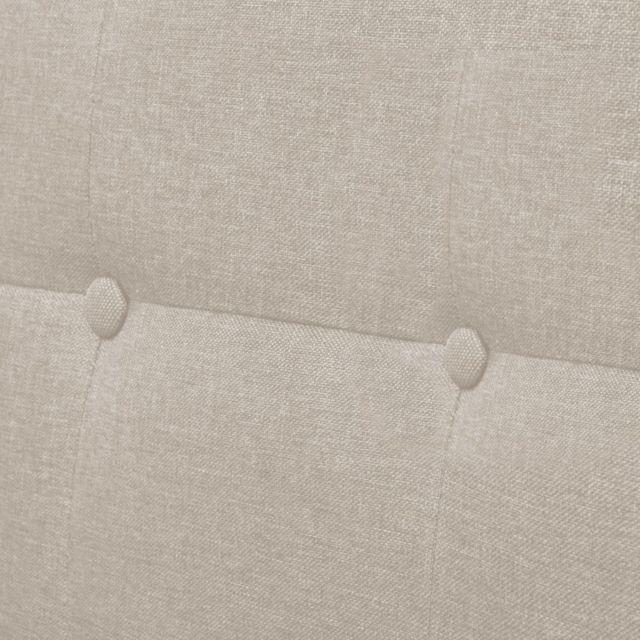 ICAVERNE Canapés ensemble Sofa à 2 places avec accoudoirs Acier et tissu Couleur de crème