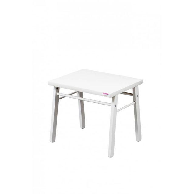 Combelle Table basse enfant laqué blanc